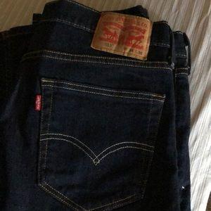 Men's 513 Levi jeans.